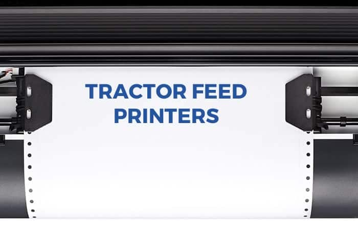 Tractor feed printing